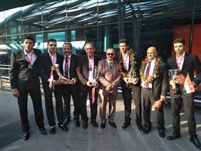 بعثة مصر للإسكواش تصل القاهرة بعد المشاركة في بطولة العالم بالهند