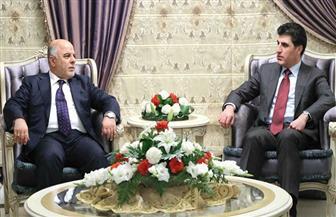 """""""العبادي"""" و""""بارزاني"""" يؤكدان معالجة التحديات والعمل المشترك بين حكومتي بغداد وكردستان العراق"""