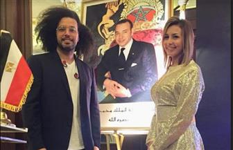 """الجريني وجنات يحتفلان بعيد المغرب بصورة عبر الـ""""فيسبوك""""  صور"""
