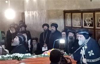 البابا تواضروس يترأس صلاة الجنازة على الأنبا إبيفانيوس بدير أبومقار| صور