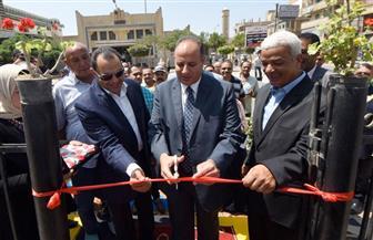 محافظ الإسكندرية يفتتح النصب التذكاري بميدان أبو قير| صور