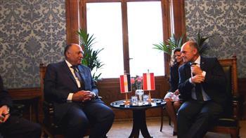 وزير الخارجية يلتقى رئيس البرلمان النمساوى والمجلس الوطنى