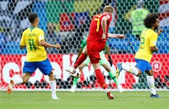 بلجيكا تتقدم على البرازيل بهدفين في الشوط الأول
