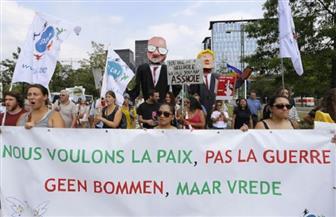 أكثر من ألف شخص يتظاهرون في بروكسل احتجاجا على سياسيات ترامب قبل قمة الناتو