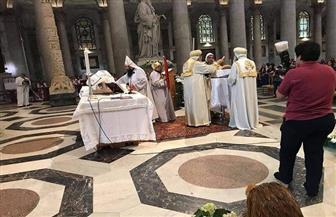 البابا تواضروس يترأس الصلاة بأكبر كاتدرائية كاثوليكية في روما   صور