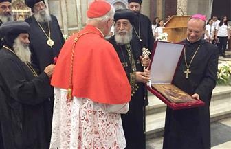 """الكاردينال جيمس يفتح أبواب """"سان بول"""" لاستقبال آلاف الأقباط بروما والبابا تواضروس يشكره   صور"""