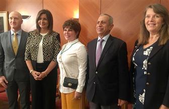 وزيرة الهجرة تشهد حفل عرض مشروعات طلبة قسم إدارة الإعلام بالأكاديمية العربية | صور