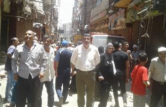 """حملة لإزالة الإشغالات بشوارع وميادين حي غرب ومنطقة """"القيسارية"""" الأثرية   صور"""