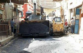 حي شرق أسيوط يستكمل أعمال رصف وتطوير ورفع كفاءة الشوارع والميادين