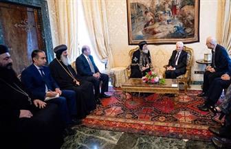 البابا تواضروس يشكر الرئيس الإيطالي لمساندة مصر في حربها على الإرهاب