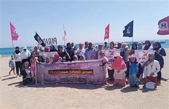 حملة نظافة بجزيرة الجفتون في البحر الأحمر استعدادا لمؤتمر التنوع البيولوجي