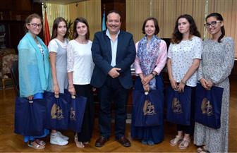 رئيس جامعة طنطا: فتح مركز لتعليم اللغة الروسية قريبا | صور