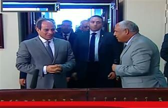 الرئيس السيسي يتفقد غرفة التحكم بمشروع قناطر أسيوط الجديدة