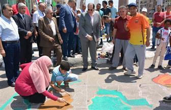 انطلاق فاعليات الاحتفال باليوم العالمي للشباب بميدان النصب التذكاري في المنصورة |صور