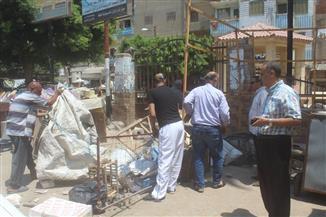 حملة مكبرة لإزالة الإشغالات بشوارع مدينة دسوق بكفر الشيخ | صور