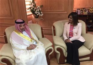 سفير البحرين في القاهرة يلتقي وزيرة الهجرة | صور