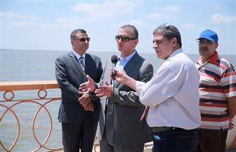 محافظ كفرالشيخ يتابع المرحلة الثانية من تطوير كورنيش بحيرة البرلس بتكلفة 24 مليون جنيه | فيديو وصور
