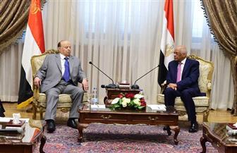 رئيس مجلس النواب يستقبل الرئيس اليمني منصور هادي