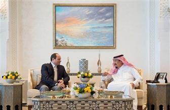 الرئيس السيسي وخادم الحرمين الشريفين يلتقيان في مدينة نيوم | صور