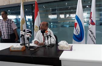 رئيس بعثة الحج الرسمية يعقد مؤتمرا صحفيا بالمطار بمناسبة انتهاء موسم سفر الحجاج