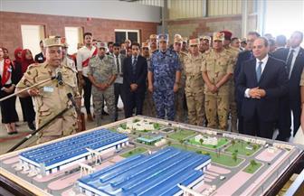 الرئيس السيسي يقوم بجولة تفقدية في المجمع الصناعي لإنتاج الأسمنت والرخام ببني سويف