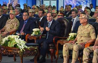 الرئيس السيسي: إنشاء 6 مدن جديدة شاملة بالصعيد و10 محاور على النيل