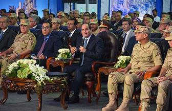 الرئيس السيسي: المشروعات القومية الجديدة توفر آلاف فرص العمل للشباب