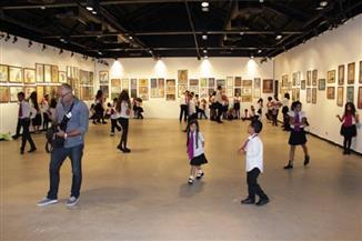 معرض القاهرة الدولي الجماعي الثاني للفنون التشكيلية في قاعة الأهرام للفنون   صور