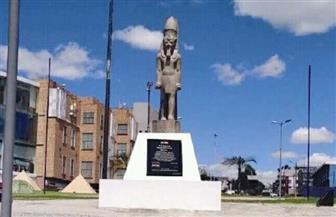 افتتاح أول ميدان مصري في أمريكا اللاتينية يحتضن نموذجا لتمثال رمسيس الثاني | صور
