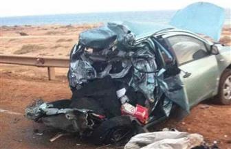 إصابة 8 مواطنين اصطدمت سيارتهم بالحاجز الخرساني للطريق الساحلي بالإسكندرية