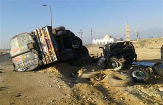 """ننشر الصور الأولى لحادث تصادم 4 سيارات بينهم """"نقل فنطاس"""" برأس سدر   صور"""