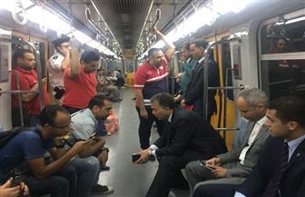 عرفات: نقل 2.5 مليون راكب بالسكة الحديد خلال يومين.. و4 مقاعد فقط للحجز   صور