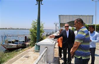 نقل المراكب النيلية المتواجدة بكورنيش قنا إلى المرسى الجديد | صور