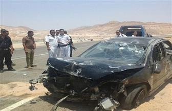 إصابة 13 مواطنا في حادثتين منفصلتين برأس غارب ومرسى علم