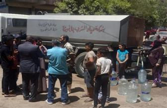 حي الهرم: الدفع بسيارات مياه للمناطق المتأثرة بانقطاع المياه  صور