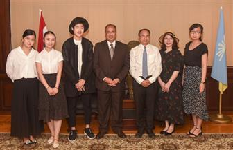 محافظ الإسكندرية يستقبل وفدا صينيا لمناقشة تجهيزات معرض شنجهاي | صور