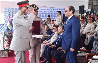 تفاصيل الاحتفال بتخريج الدفعة 156 متطوعين من معهد ضباط الصف المعلمين بحضور الرئيس السيسي | صور