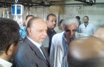 محافظ القاهرة يتفقد مجزر البساتين الآلي وأسعار اللحوم وإجراءات الذبح | صور