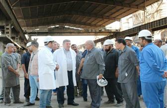 وزير قطاع الأعمال العام يتفقد مصانع شركة الدلتا للصلب وموقع مشروع التطوير