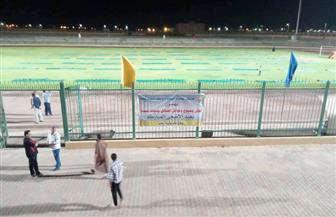 """تجهيز ساحة """"ستاد طور سيناء"""" لصلاة عيد الأضحى   صور"""