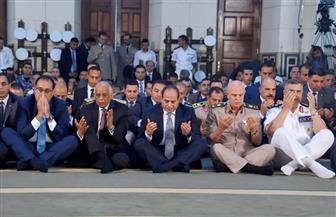 الرئيس السيسي يؤدي صلاة عيد الأضحى بالإسكندرية | صور