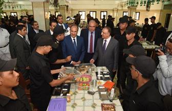محافظ الإسكندرية ومدير الأمن يزوران معسكر الأمن بمرغم | صور