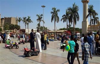أهالي الأقصر يتوافدون على الحدائق وساحة أبو الحجاج وكورنيش النيل في ثاني أيام عيد الأضحى| صور