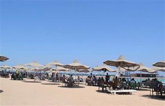 شواطئ الغردقة كاملة العدد في ثاني أيام عيد الأضحى | صور