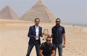 جولة لكأس السوبر الإماراتي في أهرامات الجيزة| صور