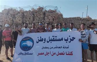 """أمانة """"مستقبل وطن"""" بالعاشر من رمضان تزور عيون موسى لقراءة الفاتحة على أرواح الجنود البواسل"""