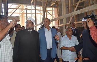 محافظ البحر الأحمر ووزير الأوقاف يتفقدان مسجد الدهار بالغردقة |صور