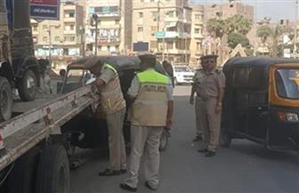 حي شبرا ينسق مع المرور لمنع سير التكاتك في الشوارع الرئيسية