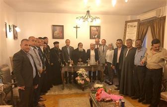 """""""مستقبل وطن"""" بالجيزة يزور مطرانية 6 أكتوبر للتهنئة بعيد العذراء"""