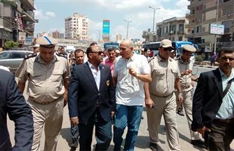 مدير أمن الغربية يقود حملة لرفع الإشغالات وتقنين سير التوك توك بشوارع المحلة | صور